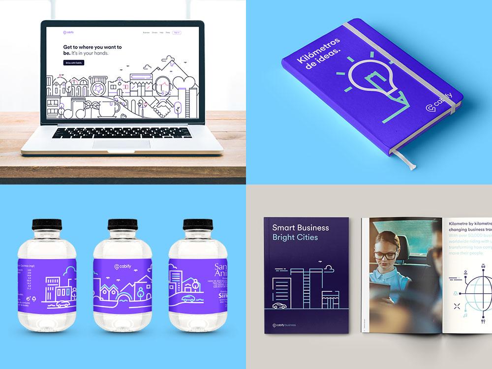 diseño gráfico diseño gráfico Diseño gráfico de Cabify cabify layout buildup24