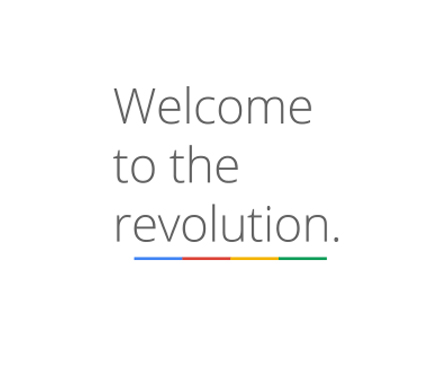 slogan o claim del logo de squared - welcome to the revolution