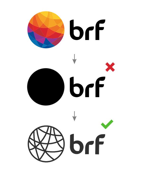 Cómo diseñar correctamente un logo monocromático?   Brandemia_