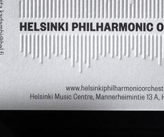 El nuevo logo de la Filarmónica de Helsinki está formado por los nombres de sus 102 músicos