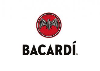 logo Bacardi rediseño con murcielago y logotipo de color rojo