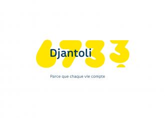 logotipo djantoli cambia cada vez que una vida es salvada, creado por la agencia Landor