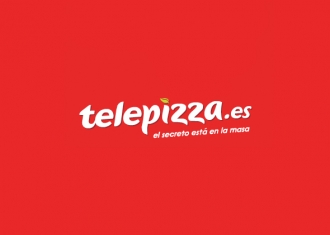 nuevo logo telepizza el secreto esta en la masa color rojo tipografia blanca