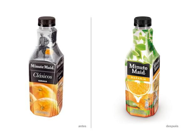 imagen de zumo minute maid de naranja nuevo diseño