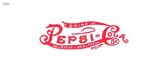 imagen logotipo  pepsi 1903