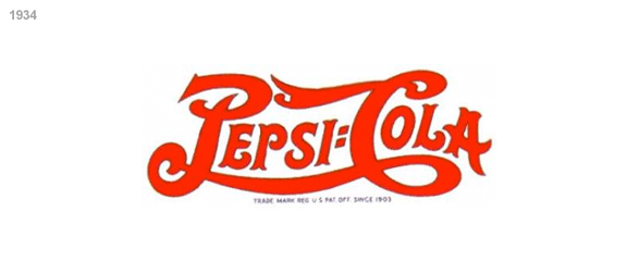 imagen logotipo pepsi cola 1934