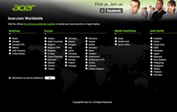 acer imagen de diseño pagina web color verde