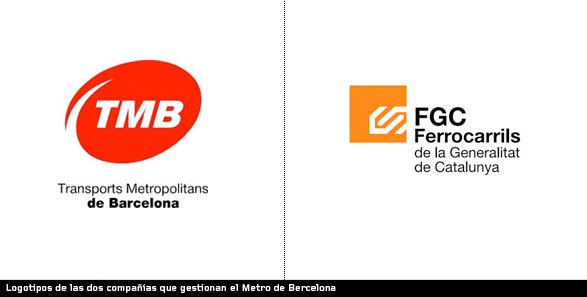 logotipos de las empresas que gestionana el metro de barcelona