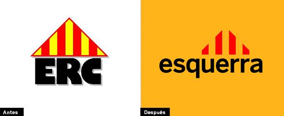 evolucion e historia del logotipo de esquerra