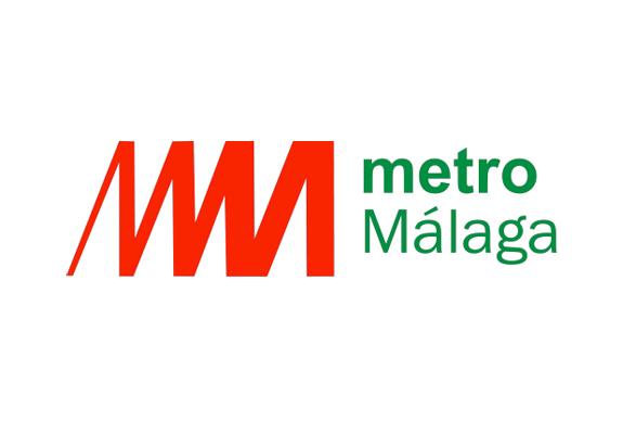 logo del metro de malaga con un tipografía peculiar
