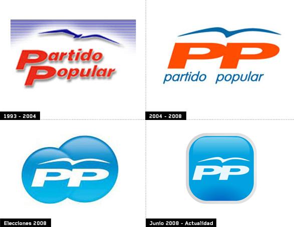 evolución e historia del logo del pp desde 1993 hasta 2015