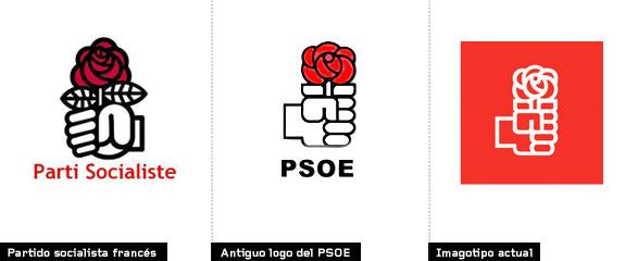 evolución e historia del logotipo del psoe