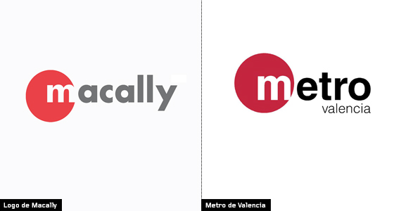 metro de valencia vs logo de Macally