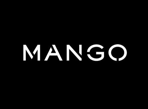 logotipo de Mango color negro y blanco primer cambio de marca de su historia