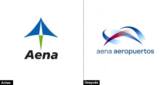 evolución del nuevo logo de aena aeropuertos rediseño