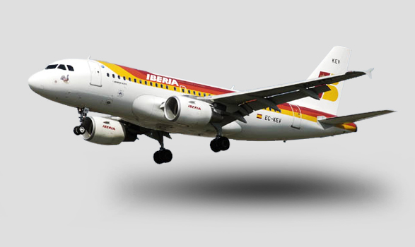 avión de Iberia maqueta
