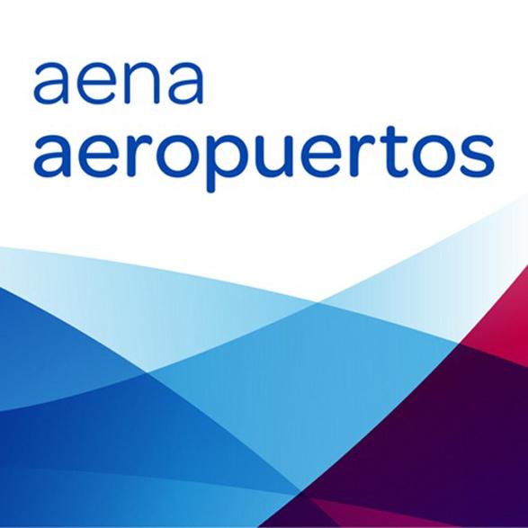 imagen del nuevo logo de aena aeropuertos