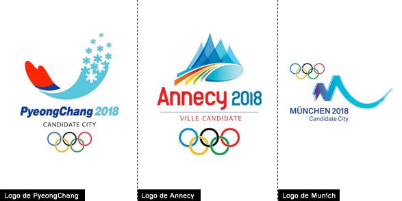 logos de ciudades candidatas a acoger los juegos olímpicos de invierno 2018