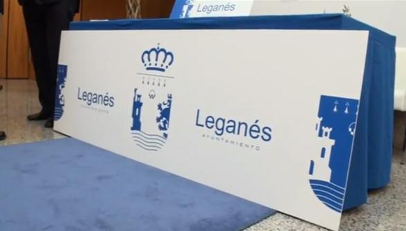 pancarta y ejemplo de branding de la ciudad de Leganés