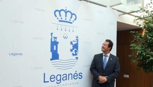 imagen de la presentación del logo de Leganés