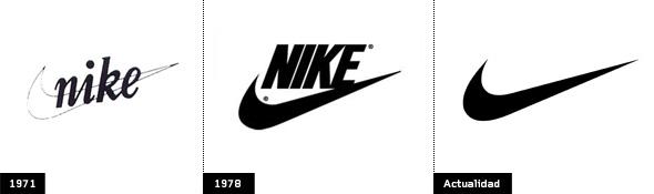 Comparación de la evolución de la marca nike - imagenes - Brandemia_