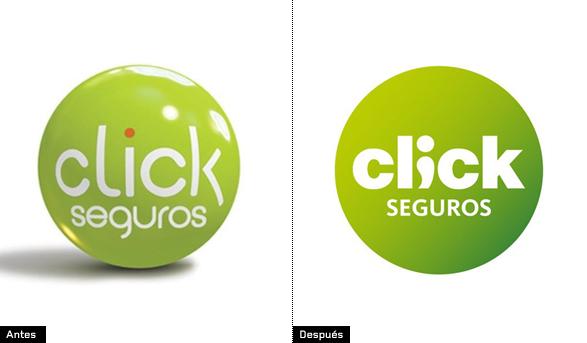 evolución y cambio del logo de click seguros