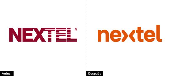 evolución e historia del logotipo de nextel