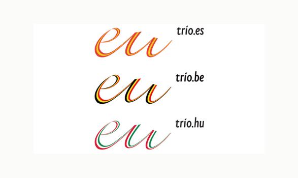 logo de la presidencia europea de España Bélgica y Hungría 2009