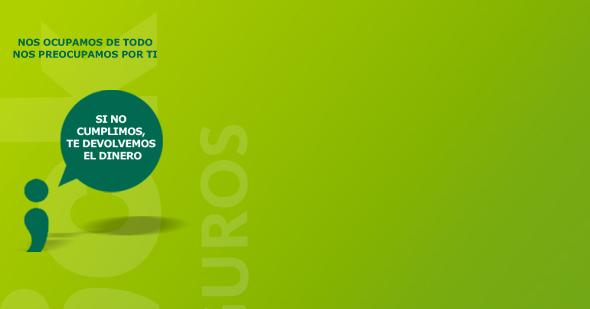 imagen del perfil de facebook de click seguros colores de marca