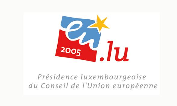 logo de la presidencia europea de Luxemburgo 2005