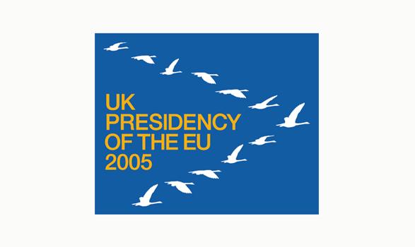 logo de la presidencia europea de Reino Unido 2005