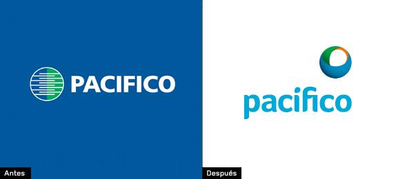 evolución del logo de seguros pacifico Perú