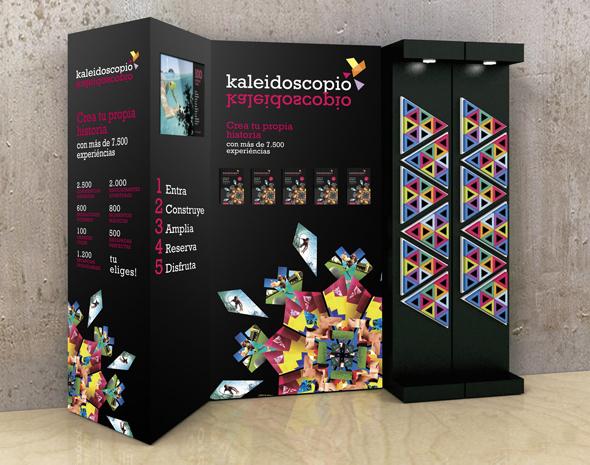 kaleidoscopio publicidad de marca experiencias en una caja como regalo