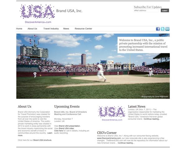 imagen de la web de USA para fomentar el turismo - Brandemia_