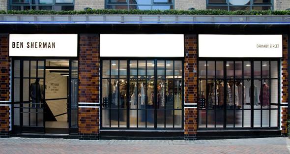 imagen de una tienda Ben Sherman en Londres