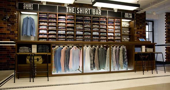 imagen de camisas de Ben Sherman en una tienda