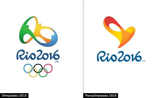 imagen de logotipo de juegos olimpicos Rio 2016 y logo de juegos paralimpicos 2016 Rio de Janeiro