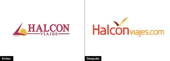 evolución del logo de halcón viajes