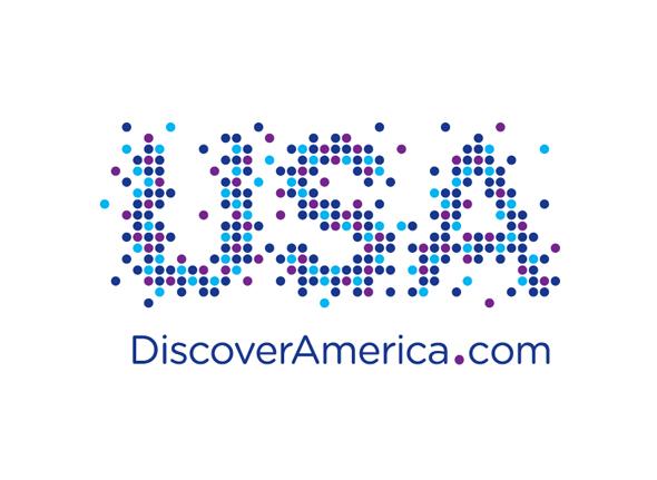 logotipo de marca turística de estados unidos