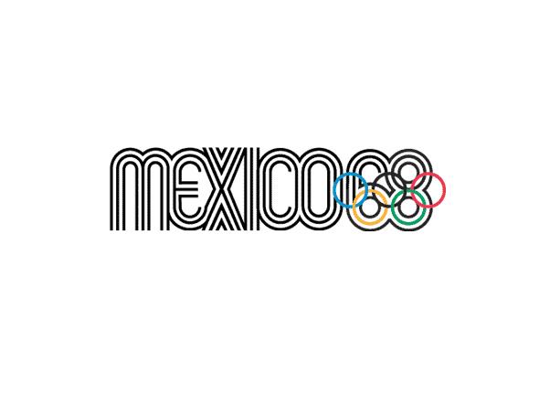 Logotipo de las olimpiadas Mexico 1968 imagen del emblema
