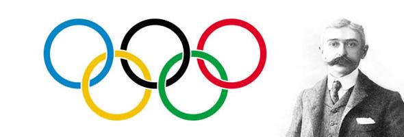 Barón de Coubertin utilizo el isotipo de la Union Francesa de Sociadades de Deportes