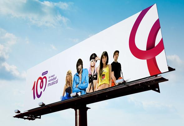imagen de valla de publicidad de cadena 100