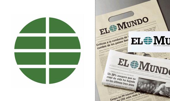 logo del periódico elmundo diseñador por Pepe Cruz Novilla