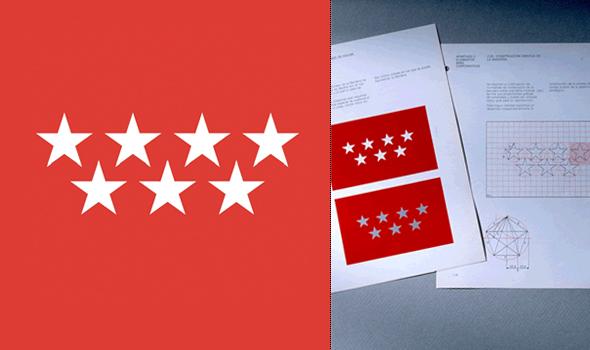 logo de la comunidad de Madrid  diseñador por Pepe Cruz Novilla