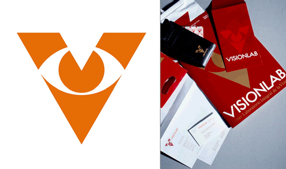 simbolo e imagen corporativa de Visonlab  diseñador por Pepe Cruz Novilla