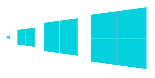 diseo logo windows 8 esbozo