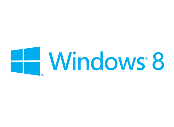 logo windows 8 azul y blanco