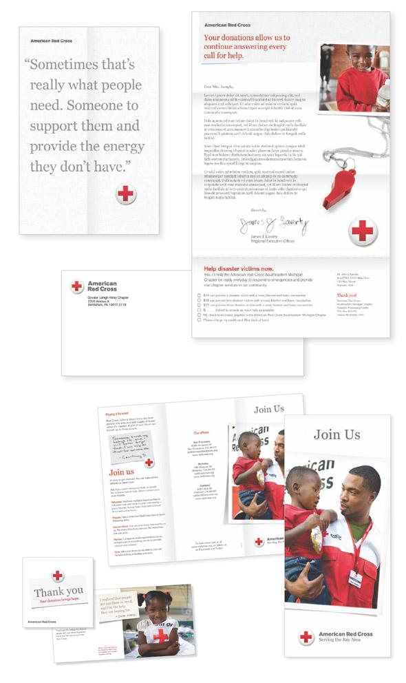 nuevo diseño de la cruz roja americana labelling