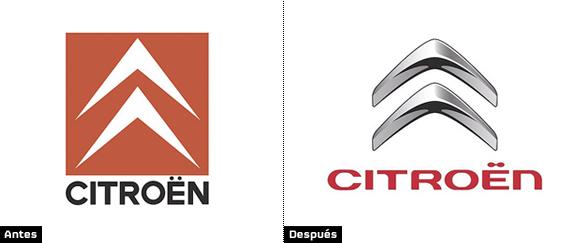 imagen del rediseño de logo de citroen