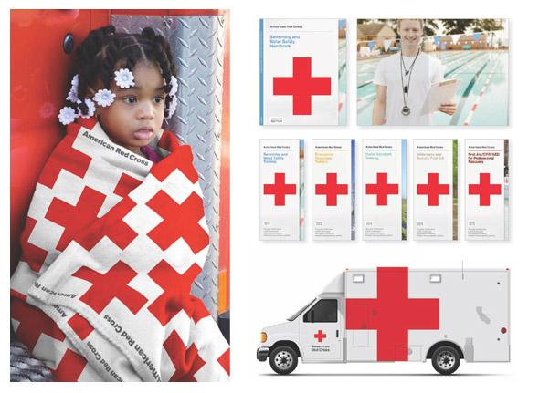 información gráfica comercial de la cruz roja americana